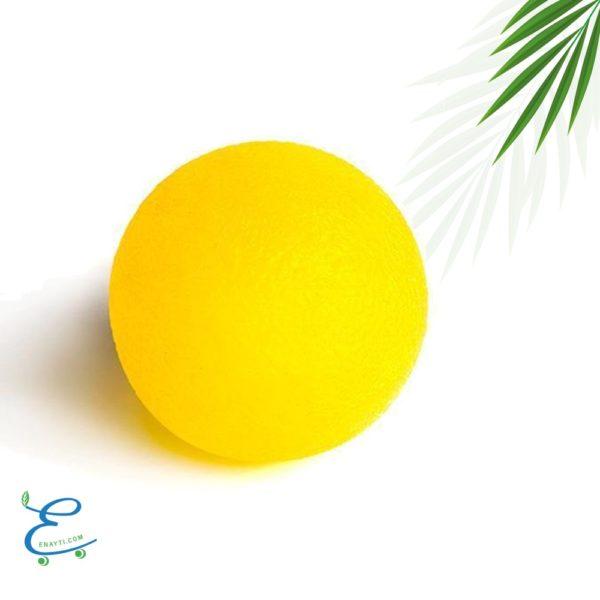 كرة تمارين اليد 50ملم قوة خفيفة جداُ باللون الأصفر