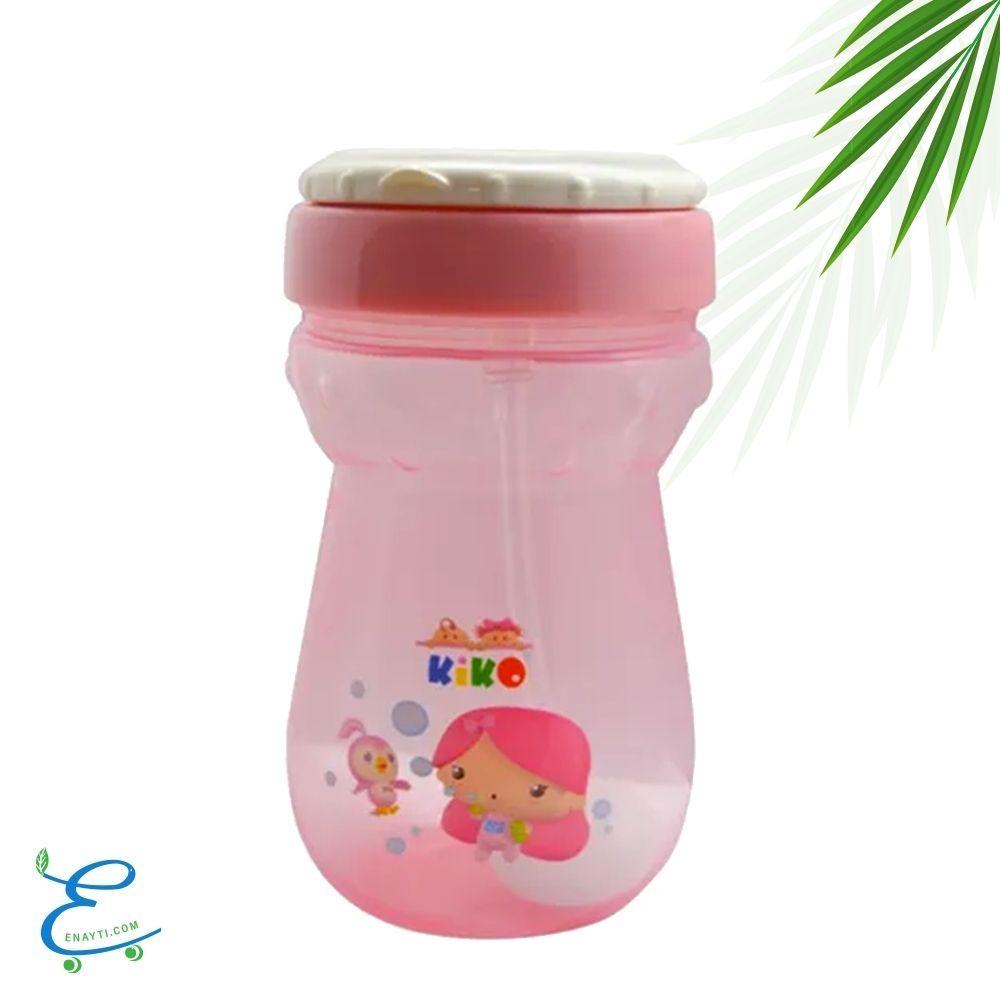كوب رشف مزود بماصة للأطفال باللون-الوردي