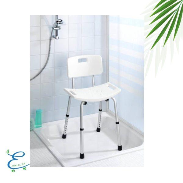 كرسي استحمام مع مسند للظهر